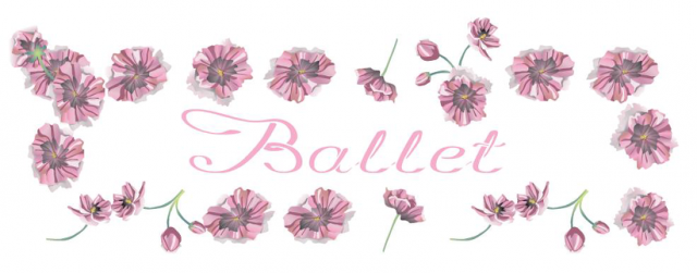 t-shirt: ballet kwiaty