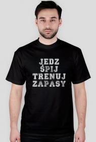 """koszulka zapaśnicza """"jedz, śpij, trenuj zapasy"""""""