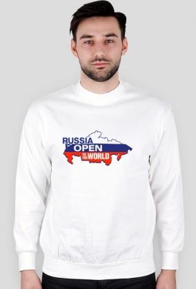 Bluza męska, długi rękaw - nadruk Rosja, Russia Open (widoczny na obrazku)