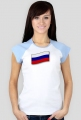 Koszulka damska, nadruk: flaga rosyjska, Rosja