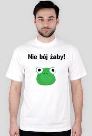 Biała koszulka z żabą