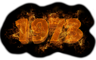 Własny napis/data w płomieniach