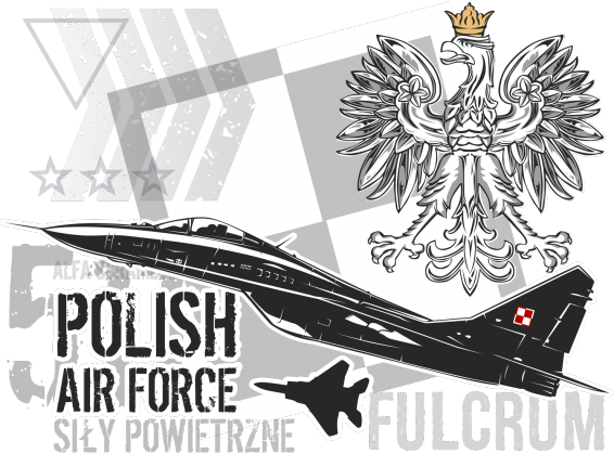 AeroStyle - koszulka Polish Air Force - Mig 29