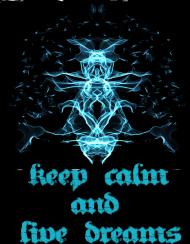 czarny t-shirt keep calm and live dreams