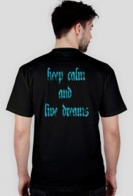 czarny t-shirt keep calm and live dreams