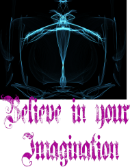 czarny t-shirt-Believe in your Imagination