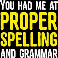 You had me at proper spelling and grammar - Męski T-shirt