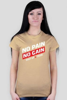 BStyle - No Pain No Gain ( Koszulka na siłownie, koszulka motywacyjna)