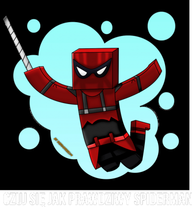 Blow Spiderman Damska Czarna