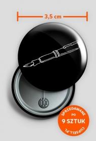 button my passion - czarny