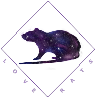 Galaxy Rat Mouse Pad