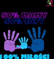Dziewczęca 50% mamy, 50% taty