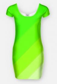 sukienka zielono biała