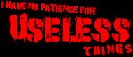Koszulka o braku cierpliwości ENG