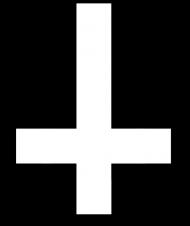 Inverted Cross black female damska