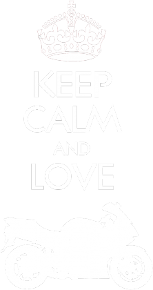 Keep Calm and love moto v2 czarna M - koszulka