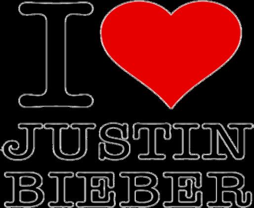 I love Justin Bieber - poszewka na poduszke