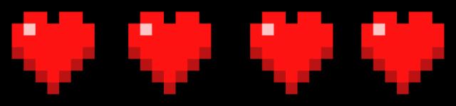 Pasek życia - serduszka Minecraft