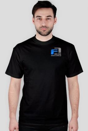 Koszulka, czarna, małe logo 2