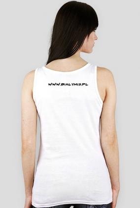 koszulka damska2 biala -bialy mis