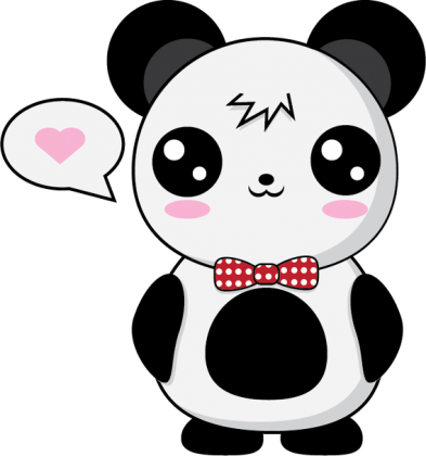 kawaii panda kids
