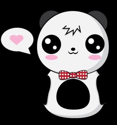 kawaii panda kids