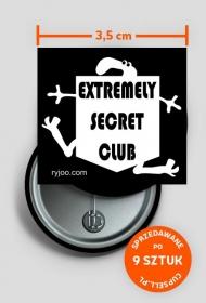 extremely secret club - ryjoo b/w przywieszka