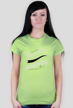 T-Shirt Guerrillagardening.pl dziewczęcy/zielony
