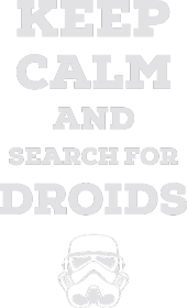 Search for droids - black