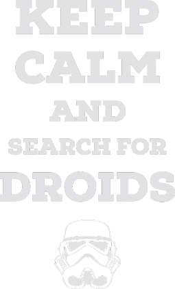 Search for droids - Lady black