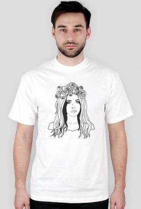 "Koszulka męska ""Roses Queen"" biała"