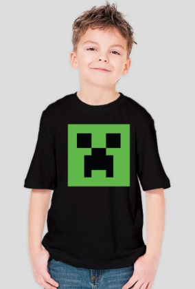 Koszulka dziecięca-męska minecraft creeper