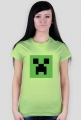 Koszulka damska minecraft creeper