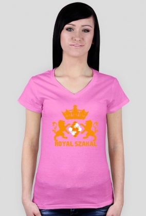 "KOSZULKA DAMSKA ""Royal Szakal ORANGE"""