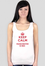 Keep calm Manchester is RED damska bokserka