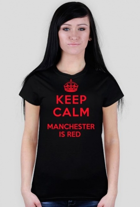 Keep calm Manchester is RED damska czarna