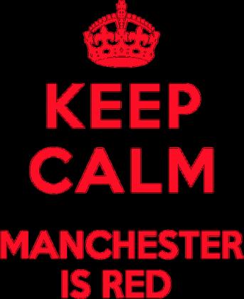 Keep calm Manchester is RED damska bokserka