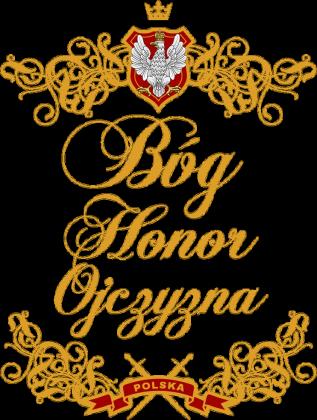 Bóg Honor Ojczyzna czarna damska