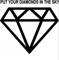 diament biała