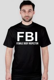 t-shirt FBI czarny