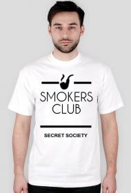 t-shirt biały SMOKERS CLUB