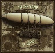 steampunk airship-  Man