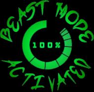 "Koszulka na siłownie Męska ""Beast Mode Activated"" 2 Kolory"