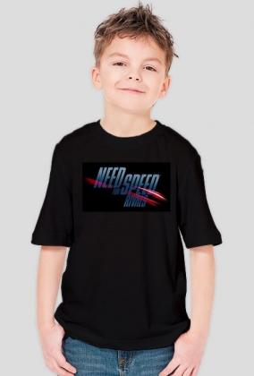 NFS Rivals - Czarny Dziecięcy T-Shirt