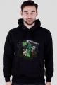 Minecraft - Czarna Bluza z Kapturem
