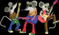 Gitarowe Myszy - damska bluza z kapturem