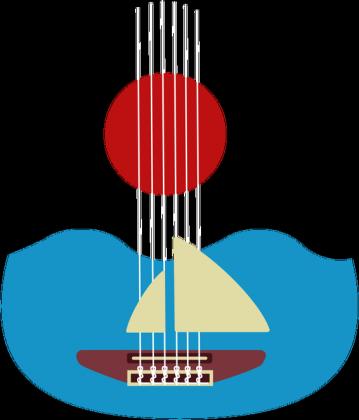 Gitara Żeglarza na torbie z uchem