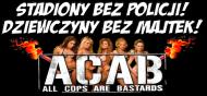 Kubek Dwustronny - Stadiony bez policji/Dziewczyny bez majtek - Biały