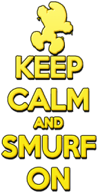 Keep Calm and Smurf on JC (man)