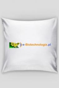 Poszewka na poduszkę z logo e-biotechnologia.pl